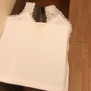 030f25636728f Simply Styled Intimates   Sleepwear - Women New NWOT White Lace cami Top  Size XL